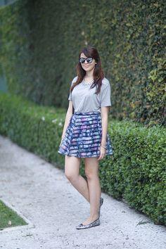Look do dia: Floral listrado + Vlog