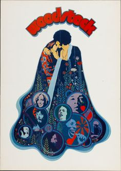 "Movie Posters:Rock and Roll, Woodstock (Warner Brothers, 1970). German A2 (16"" X 23"")...."