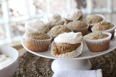 Cupcake Recipes : Walnut & Flax Frosted Cupcakes