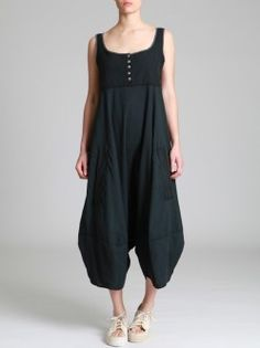 COMBINED JUMPSUIT WITH RUSTIC TOP AND LIGHT PANTS