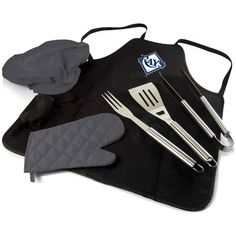 Picnic Time MLB BBQ Apron Tote Pro Grilling Tool Set MLB Team: Tampa Bay Rays 635-88-179-274-3,    #PicnicTime,    #635881792743,    #Tools