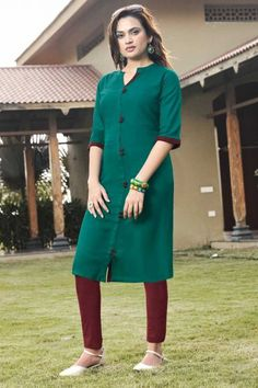 Exquisite Rayon Stylish Kurtis in Green With Dupatta Stylish Kurtis, Eid Dresses, High Neck Dress, Shirt Dress, Green, Clothing, Shirts, Collection, Tops