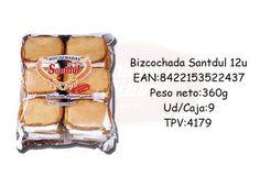 Bizcochada 12u 360g Santdul - Antonio y Cañizares Products, Crates
