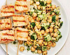 Tuna with Summer Salad recipe Summer Salad Recipes, Summer Salads, Good Housekeeping, Tuna, Allrecipes, Pasta Salad, Fresh, Healthy, Ethnic Recipes