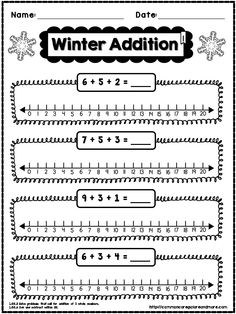 This is a **FREE** SAMPLE PAGE taken from my 1st Grade Winter NO PREP Math Pack. Enjoy! #1stGrade #CommonCore