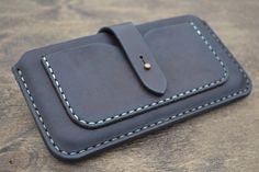 Case for iPhone 6 Plus on the belt - Handmade Leather iPhone 6 Plus Pouch / - Pouch  - Dark Brown