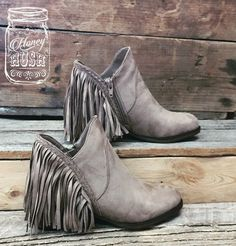 Taupe Suede Fridge Booties