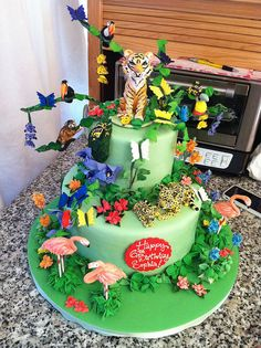 rainforest birthday by robynlovescake, via Flickr