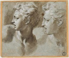 Francesco Mazzola also called Parmigianino (1503-1540), Study of two Heads