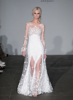 The new Rime Arodaky wedding dresses have arrived! Take a look at what the latest Rime Arodaky bridal collection has in store for newly engaged brides. Bridal Wedding Dresses, Bridal Style, Bridesmaid Dresses, Bridal Collection, Dress Collection, Bridal Fashion Week, Bridal Looks, Beautiful Bride, One Shoulder Wedding Dress