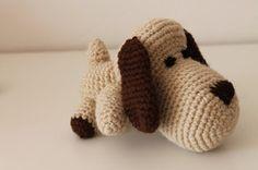 Little dog Gustave le petit chien plush Cuddy toy DOUDOU amigurumi crochet