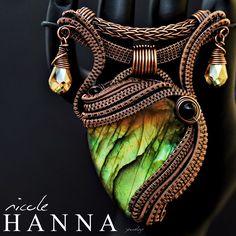 Labradorite in Copper Pendant by Nicole Hanna -- marvelous!