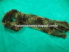 Artes na Passarela: Cachecol com fio mesclado