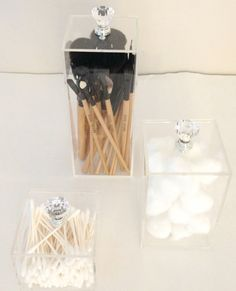 The Beauty Cube by Acrylic Makeup Organizers $50.00 Off all orders over $180.00 Coupon Code HOLIDAY14 ends 12/1/14 This 3 set acrylic
