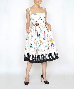Loving this Cream Rockabilly Idol Paris Dress - Plus Too on #zulily! #zulilyfinds