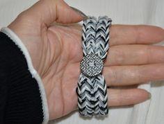 Chunky Reversible fishtail loom armband - loom bracelet