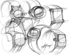 Sketch from Industrial Designer, Spencer Nugent
