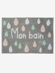 Tapis de bain enfant - Gris imprimé - 1