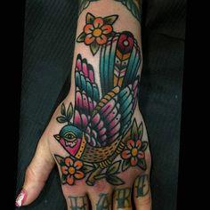 Bird #feasttattoo #tattoo #tattoo done by Vassotats lowbrow