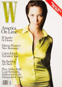 <em>W</em> Magazine's Supermodel Cover Girls - Christy Turlington on the cover of W Magazine January 1996