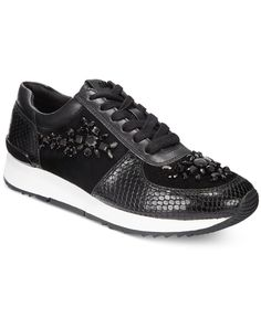 Michael Michael Kors Allie Embellished Lace-Up Sneakers