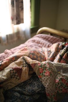 This is how the beds looked at my grandmothers many years ago.  Great memories so inviting.