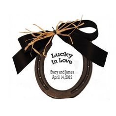 Lucky Horseshoe | Good Luck Charm  Wish the Bride and Groom good luck for their new home!  Great Wedding party favor!