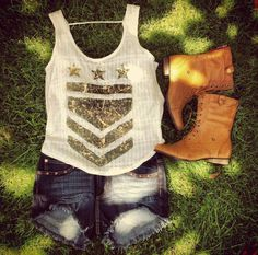 Love the shirt! But with real cowboy boots