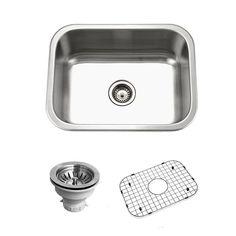 Houzer BSS-2309 Belleo Series Topmount Single Bowl Kitchen Sink - BSS-2309 (scheduled via http://www.tailwindapp.com?utm_source=pinterest&utm_medium=twpin&utm_content=post125874347&utm_campaign=scheduler_attribution)