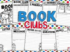 Book clubs, or literature circles, are a fun way to differentiate and get your class reading engaging text! Use these book club graphic organizers to help your students to practice various reading standards.