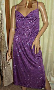 Sequin Glitter Dress Spaghetti Straps Nancy Bracoloni for Shangri La Size 10 VTG