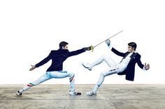 Sportweek (Italy) by Fabien Breuil http://www.behance.net/FabienBreuil  Fencing.