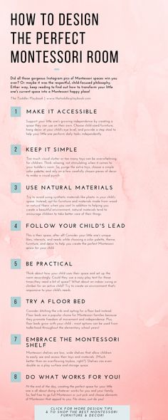 Want to transform your little one's space into their Montessori happy place? Check out these Montessori toddler room design tips & inspiration to learn how to design the perfect Montessori bedroom for your toddler! From Montessori floor bed and Montessori Montessori Toddler Bedroom, Montessori Playroom, Montessori Activities, Baby Activities, Montessori Theory, Baby Bedroom, Kids Bedroom, Room Wanted, Boy Room