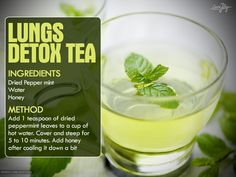 Tea for detox your lunges in 72 hrs.