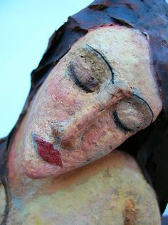 Modigliani Beauty - - Papier-mache sculpture based on Modigliani's Seated Nude. Paper Mache Clay, Paper Mache Sculpture, Paper Mache Crafts, Sculpture Art, Photo Sculpture, Ceramic Sculptures, Modigliani, Paperclay, Art Dolls