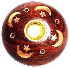 Wooden Celestial Incense Burner