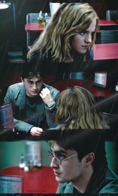 Harry and Hermione - The Deathly Hallows Part 1 Draco Harry Potter, Harry Potter Room, Harry James Potter, Harry Potter Hermione, Harry Potter Universal, Harry Potter World, Harry Potter Characters, Hermione Granger, Harmony Harry Potter