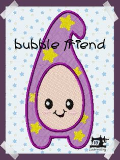 10EMBROIDERY Pattern Bubble Friends 002 PHOTOS (225K)