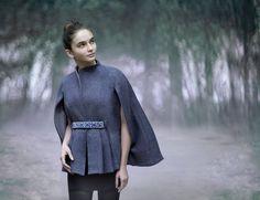 Модель из коллекции Anna Miminoshvili Volvo, Moscow, Georgia, Cold Shoulder Dress, High Neck Dress, My Style, Anna, Artists, Dresses