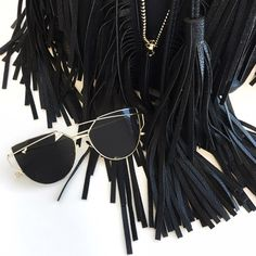 Black & Gold Aviator Sunglasses These sunnies make a statement! I have them in all of the colors shown in the coverphoto, as well as black/black but this listing is specifically for the Black/Gold. PRICE FIRM unless bundled, will not be responding to offers or trades. Accessories Sunglasses
