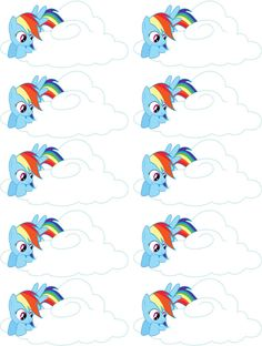 My Little Pony Rainbow Dash Custom Birthday Party Favor Tags