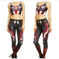 Captain America Leggings Leggings - http://amzn.to/2id971l