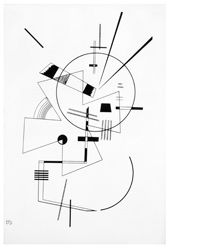 """Wassily Kandinsky (Russian, 1866—1944) Abstract Composition No. II, 1925 Lithograph 15 3/4"""" x 10 5/8"""" Gift of Dr. and Mrs. Samuel  Finkelstein"""