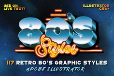 80's Retro Graphic Styles by Designdell on @creativemarket