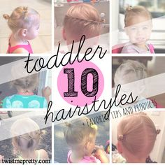 10 Creative Toddler Hairstyles + tips and secrets to keep them sitting still #hairstyles #toddlerhairstyles #hair #toddler | Twist Me Pretty