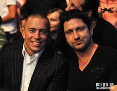 Georges St. Pierre and Gerard Butler