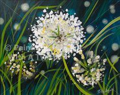 White Wildgrass Flowers - Fairport Painting Class - Painting with a Twist - Painting with a Twist