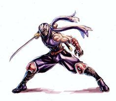 Ryu Hayabusa by BenjaminWiddowson on DeviantArt Samurai Tattoo, Samurai Art, Samurai Warrior, Game Character Design, Fantasy Character Design, Character Art, Shuriken, Fantasy Artwork, Art Ninja