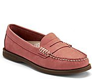 Hayden Penny Loafer, Washed Red Nubuck, dynamic