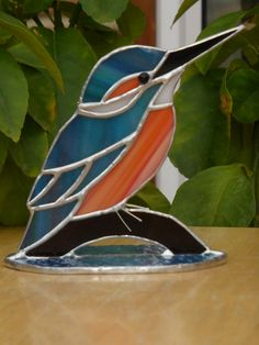Kingfisher made from stained glass - made to order by 1stGlassCreations on Etsy